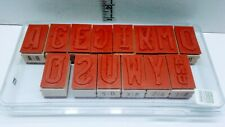 Stampin Up Alphabet Stamps Complete Set New