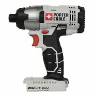 """PORTER CABLE PCC641 20V Max 20 Volt Lithium Ion 1/4"""" Hex Impact Driver TOOL ONLY"""