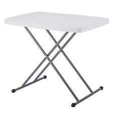 New Folding Adjustable Table Plastic Picnic Party Camping Table Indoor Outdoor