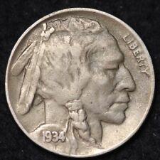 1934-D Buffalo Nickel CHOICE XF FREE SHIPPING E330 ACT