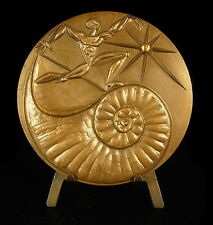 Medaille Nautil Nautilus coquillage shell Schale 82 mm 1984 sc Lallemant medal