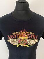 Harley Davidson Motor Girl Kingman Arizona Black Women's Biker T-Shirt Tee 2XL