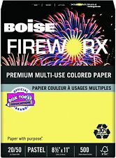 Boise Fireworx Colored Paper 20lb 8 12 X 11 Crackling Canary 500 Sheetsream