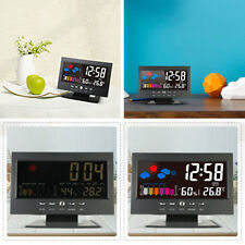 Indoor/Outdoor LCD Weather Station Clock Digital Temperature Humidity Meter New