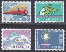 Switzerland 1962 MNH Mi 747-750 Sc 412-415 Anti-Malaria,Trains,Rowing,Jungfrau