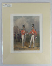 The Hon. Artillery CO Officer & Private by J Harris after H Martens 1848 Reprint