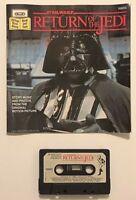 Vintage 1983 Star Wars Return of the Jedi 24 Pg Read Along Book & Cassette Tape