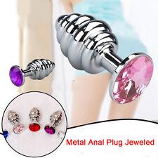 Butt Plug_Anal-Toy- Prostate Massager_Plug Stimulation Anus- Steel Metal Jeweled
