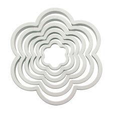 Pme 6 paquete flor Plástico recorte glaseado fondant cortadores Sugarcraft