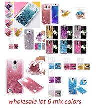 lot 6 FLOWING liquid glitter soft TPU FOR SAMSUNG LG ALCATEL ZTE IPHONE HTC