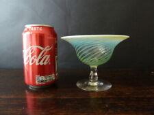 More details for art nouveau 19th century james powell vaseline uranium glass bowl chips to base