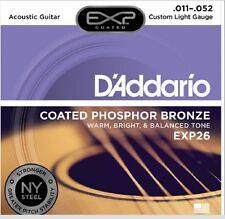D'Addario EXP26 Coated EJ26 Phosphor Bronze Custom Light 11-52 New York Steel