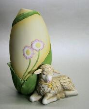 Goebel kein Engel, sondern Ostern, Vase mit Lamm, ca. 17 cm NEU u. OVP