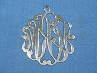 "Vintage Vermeil Sterling 1-3/4"" by 2"" Cypher Pendant"