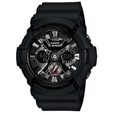 Casio G-Shock GA201-1A Black Dial Resin With Metal Accents Men's Watch