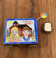 Lunchbox W/ Sandwich & Lollipop - Vintage Limoges Box (Read Description)