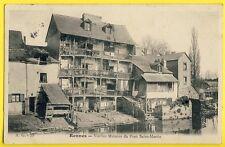 cpa 35 - RENNES (Ille et Vilaine) Vieilles MAISONS du PONT SAINT MARTIN en 1904