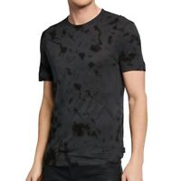 John Varvatos Star USA Men's Short Sleeve Tie Dye Marcus Crew Tee Shirt Charcoal