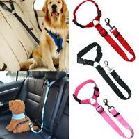 Durable Nylon Leash Cat Car Safety Belt  Dogs Leash Pet Leads Collar Lead