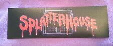 Splatterhouse arcade marquee sticker. 3 x 9. (Buy any 3 stickers, GET ONE FREE!)