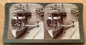 Governor's Palace Steamer Khartum Fashoda Blue Nile Sudan 1904 Stereoview Slide