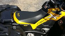 CAN-AM OUTLANDER 800r 800 XMR YELLOW STIICHING GRIPPER  seat cover 2012 & UP