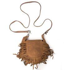 Genuine Leather Belt Bag - Hip Purse - Brown Fringe - USA Made