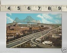 Vintage Postcard New Orleans Louisiana New Mississippi River Cantilevered Bridge