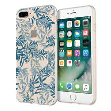 """INCIPIO Design Series Clear Metallic Case for iPhone 8 7 Plus (5.5"""") Blue Willow"""