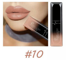 Pudaier Moisturizer Matte Nude Liquid Lipstick Metal Color Lip Gloss Makeup