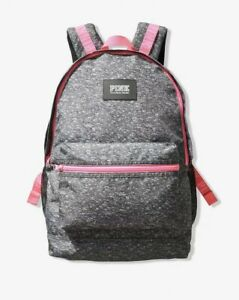 NEW Victoria Secret PINK CAMPUS BACKPACK - Heather Gray Full Size Cute!! ❤️❤️❤️