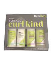 Devacurl The Kit For All Curl Kind Hair Set with 4 Pieces 3 oz Each FREE SHIP