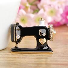 Sewing Machine Brooch Pin Enamel Brooch Collar Scarf Decor Retro Jewelry JJ