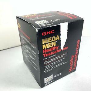 GNC Mega Men Healthy Test Capsules 30 Vitapaks EXP 04/2022 Sealed Damaged Box