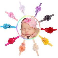 10pcs Luxury Baby Girl Elastic Multicolor Flower Headband Rhinestone Hair Band