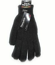 MENS LADIES KNITTED GLOVES THINSULATE SOFT FEEL FULLY LINED WINTER WARM OUTDOOR