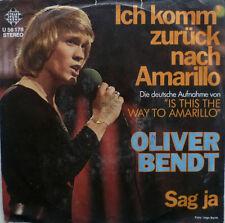 """7"""" 70´s COVER VERSIONE! Oliver Bendt: amarillo/VG +? \"""