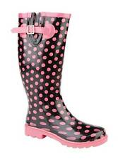 Stormwell Ukd Ladies Pink Spotty Gusseted Womens Welly Wellington W205A UK 8