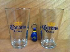 Corona Extra Beer 16 oz Pint Beer Glass & Boxing Glove Opener Set Of 2 ~ NEW F/S