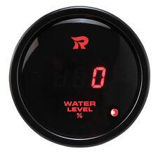 52mm digital jauge de niveau d'eau% indicateur compteur led rouge fonction d'avertissement 0-180ω