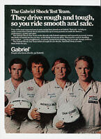 1977 Gabriel Shocks Ad w/ Al Unser Richard Petty Parnelli Jones & Dan Gurney