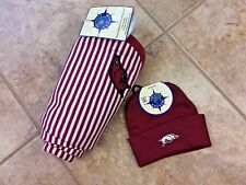 Arkansas Razorbacks New Born/Infant Blanket & Net Cap Set