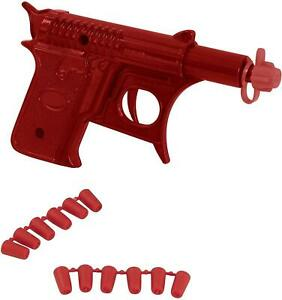 Die-cast Metal Spud Gun Pistols Great Fun For Kids Role Playing Toy Guns - Red