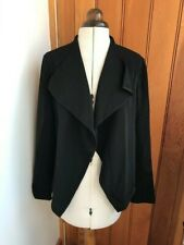 maison cinquent black crepe open jacket small bnwt
