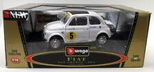 Burago 1/18 Scale Diecast - 3334 Fiat 500 Abarth 1965 White Model Car