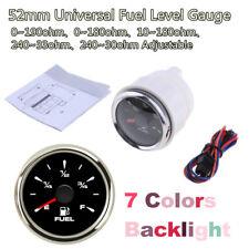52mm 7 Colors Backlight E-F Fuel Level Meters Waterproof Fuel Gauges Car Boat