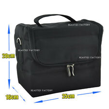 1x Multi Function Black Makeup Case Nail Beauty Tools Extendable Bag Small/Large