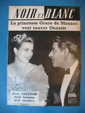 779 GRACE DE MONACO ONASSIS AFFAIRE JACCOUD REVUE NOIR ET BLANC 1960