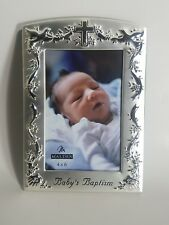 "Malden International Baby'S Baptism Engraved Silver 4' X 6"" Photo Frame 6901-46"
