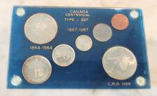 Canada Centennial Coin Type Set - 1967 Full Set & 1964 Silver Dollar
